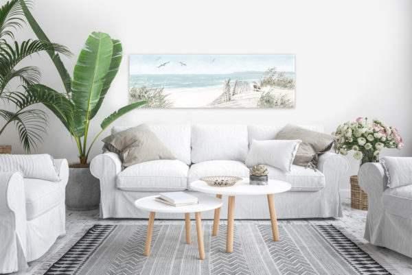 Leinwandbild Dünen – Panorama im Wohnzimmer