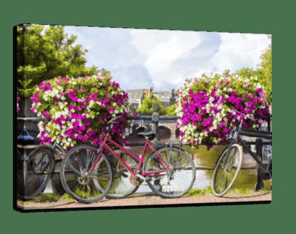 Leinwandbild Bikes Ansicht schräg