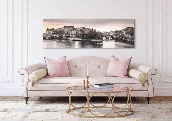 Leinwandbild Paris – Panorama im Wohnzimmer