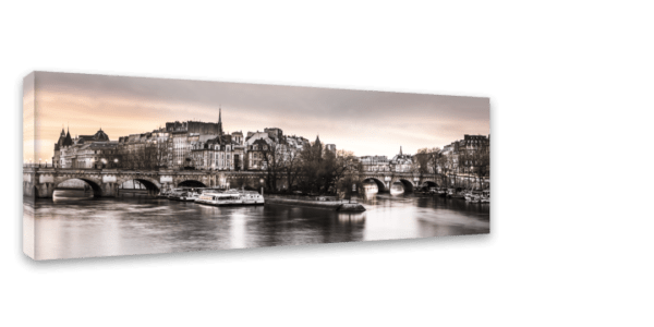 Leinwandbild Paris – Panorama Ansicht schräg