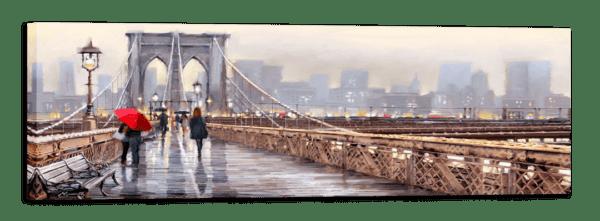Leinwandbild New York – Wasserfarben