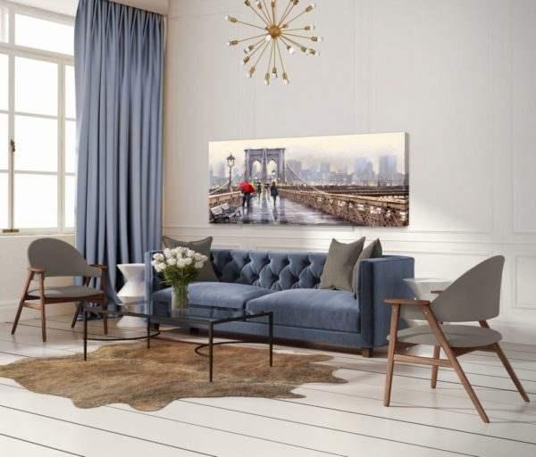 Leinwandbild New York – Wasserfarben im Wohnzimmer