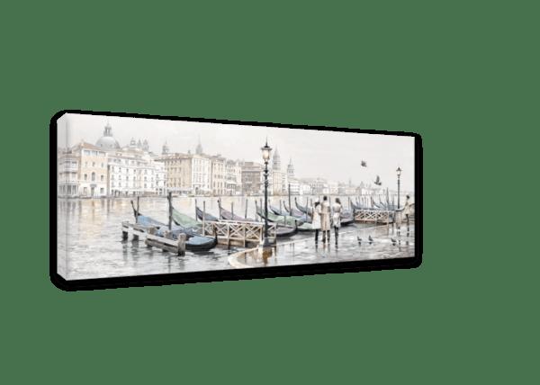 Leinwandbild Venedig – Wasserfarben Ansicht schräg