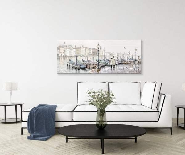 Leinwandbild Venedig – Wasserfarben im Wohnzimmer