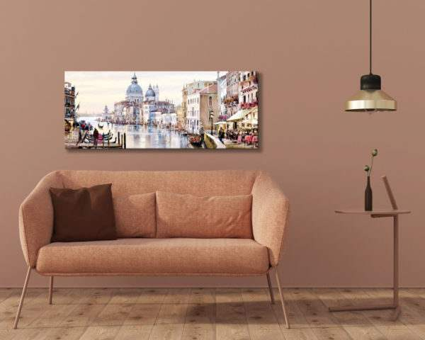 Leinwandbild Venedig Canal Grande – Wasserfarben im Wohnzimmer