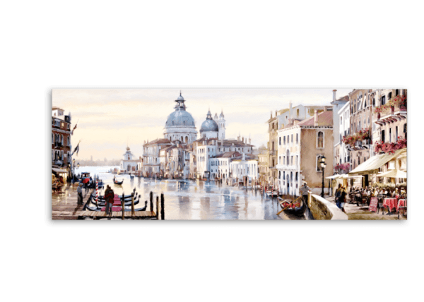 Leinwandbild Venedig Canal Grande – Wasserfarben