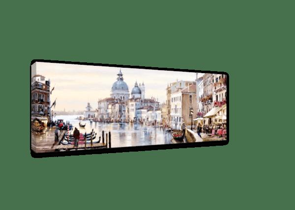 Leinwandbild Venedig Canal Grande – Wasserfarben Ansicht schräg