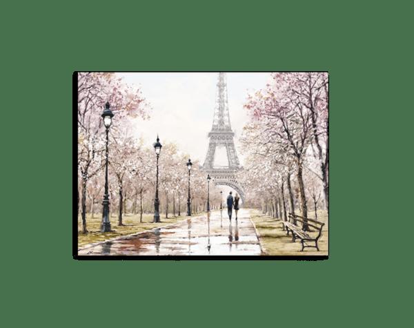 Leinwandbild Paris – Wasserfarben