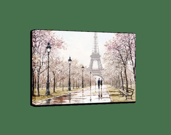 Leinwandbild Paris – Wasserfarben Ansicht schräg