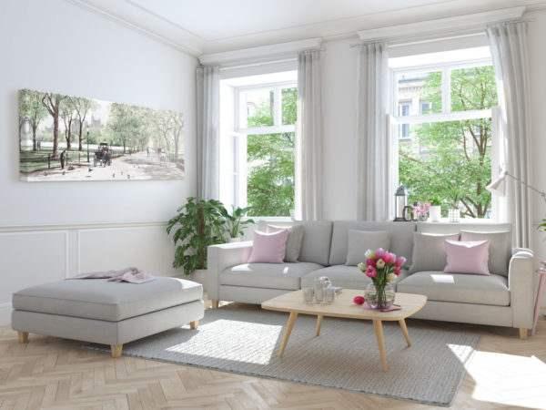 Leinwandbild Central Park – Wasserfarben im Wohnzimmer