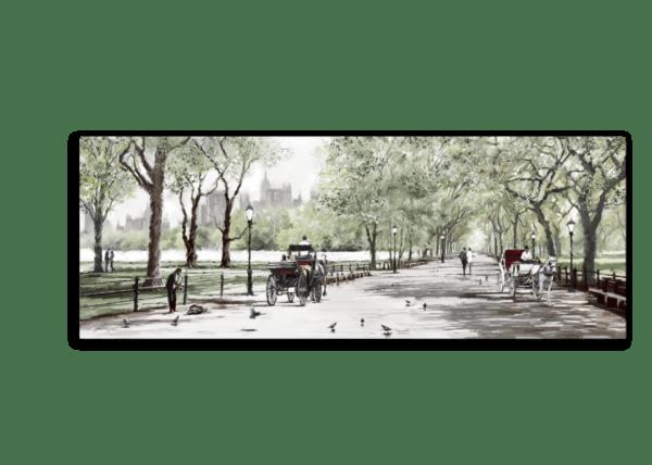 Leinwandbild Central Park – Wasserfarben