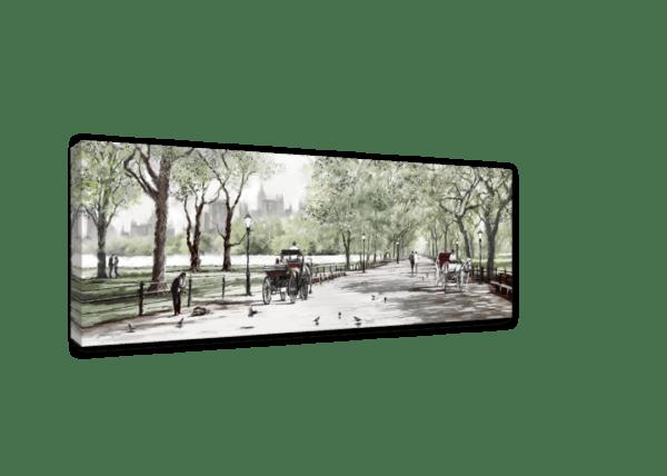 Leinwandbild Central Park – Wasserfarben Ansicht schräg