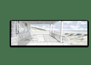 Leinwandbild Haus am Strand