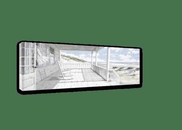 Leinwandbild Haus am Strand Ansicht schräg