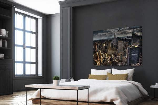 Leinwandbild Manhattan Skyline im Schlafzimmer