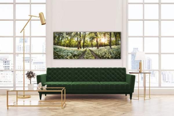 Leinwandbild Spring – Panorama im Wohnzimmer