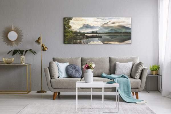Leinwandbild Lake -Panorama im Wohnzimmer