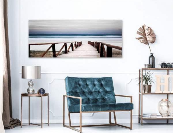 Leinwandbild Alba – Panorama im Wohnzimmer