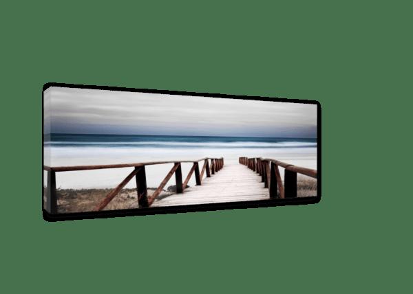 Leinwandbild Alba – Panorama Ansicht schräg
