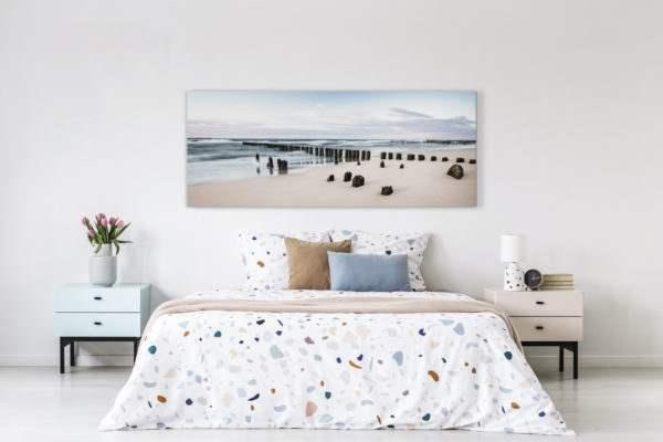 Leinwandbild Rise – Panorama im Schlafzimmer