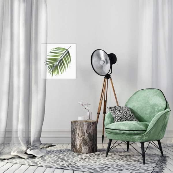 Leinwandbild Palm im Wohnzimmer