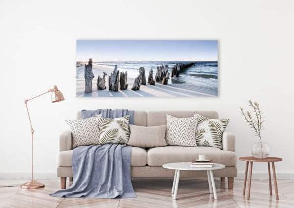 Leinwandbild Blue Sunset – Panorama im Wohnzimmer