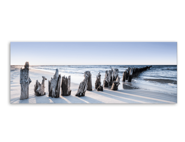 Leinwandbild Blue Sunset – Panorama