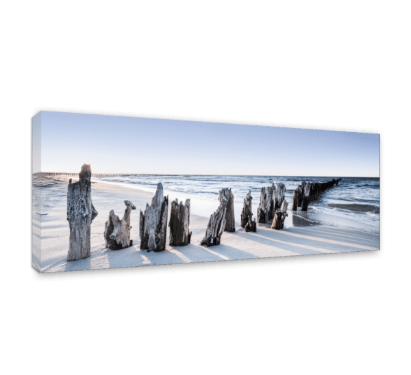 Leinwandbild Blue Sunset – Panorama Ansicht schräg