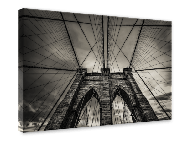 Leinwandbild Brooklyn Bridge Ansicht schräg