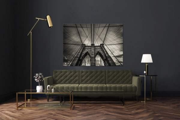 Leinwandbild Brooklyn Bridge im Wohnzimmer