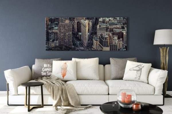 Leinwandbild City – Panorama im Wohnzimmer