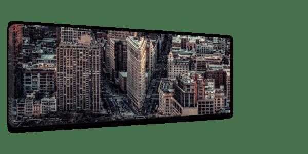 Leinwandbild City – Panorama Ansicht schräg