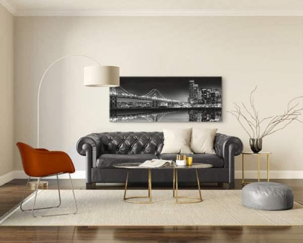 Leinwandbild Bridge – Panorama im Wohnzimmer