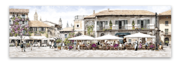 Leinwandbild Restaurant – Panorama