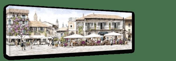 Leinwandbild Restaurant – Panorama Ansicht schräg