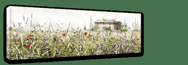 Leinwandbild Grasse – Panorama Ansicht schräg