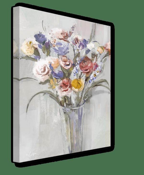 Leinwandbild Vase Ansicht schräg
