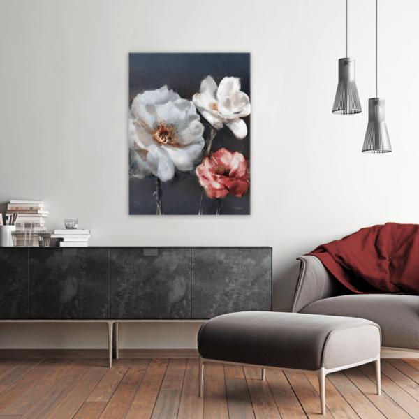 Leinwandbild Red Rose im Wohnzimmer
