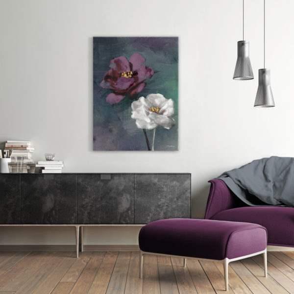 Leinwandbild Violet Rose im Wohnzimmer