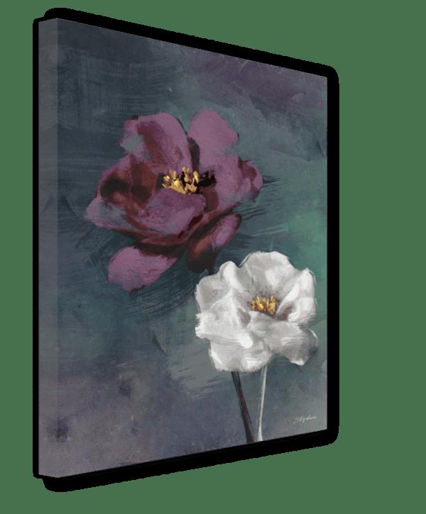 Leinwandbild Violet Rose Ansicht schräg