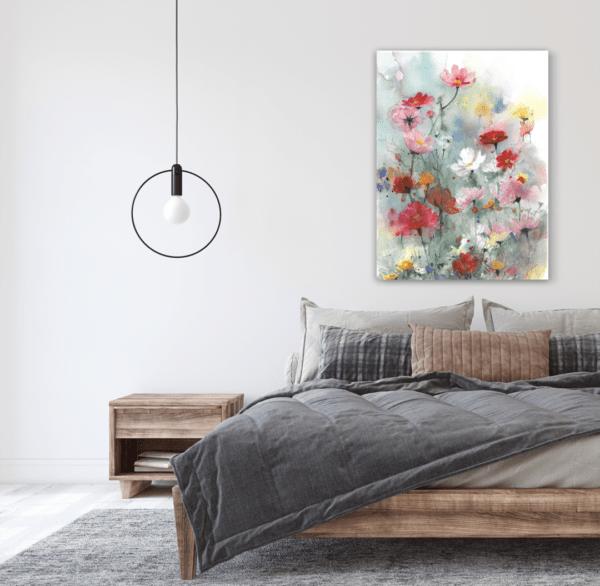 Leinwandbild Meadow im Schlafzimmer