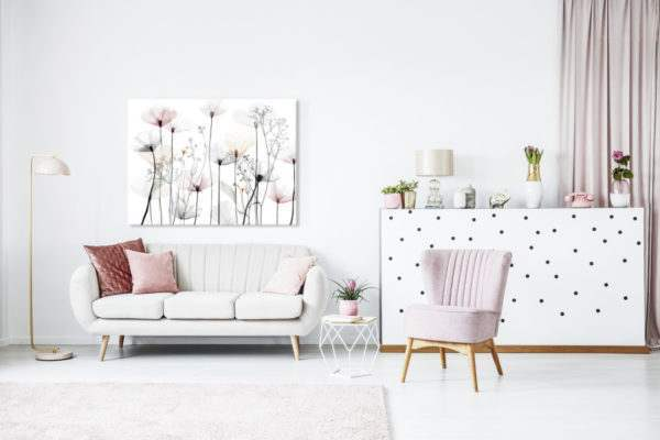 Leinwandbild Poppy im Wohnzimmer