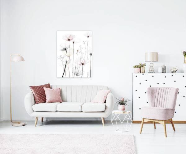 Leinwandbild Modern Poppy im Wohnzimmer