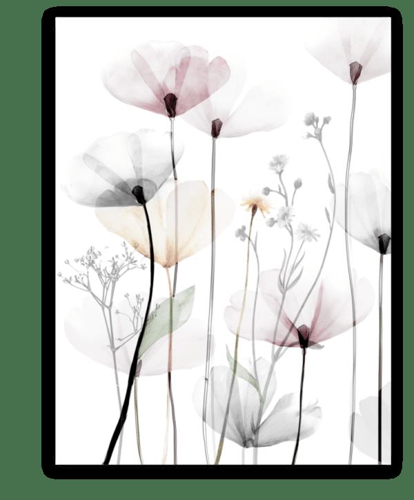 Leinwandbild Modern Poppy