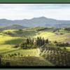 Glasbild Tuscany