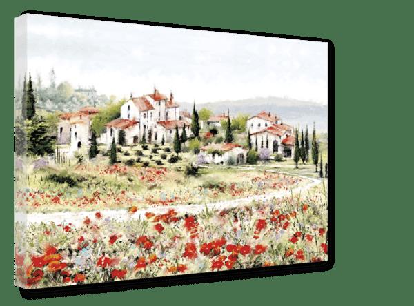 Leinwandbild Red Meadow Ansicht schräg