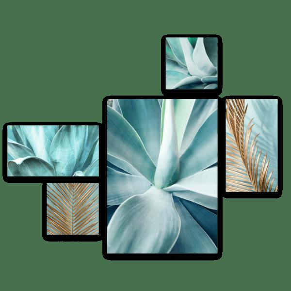 Leinwandbild Mint Agave – Mehrteiler