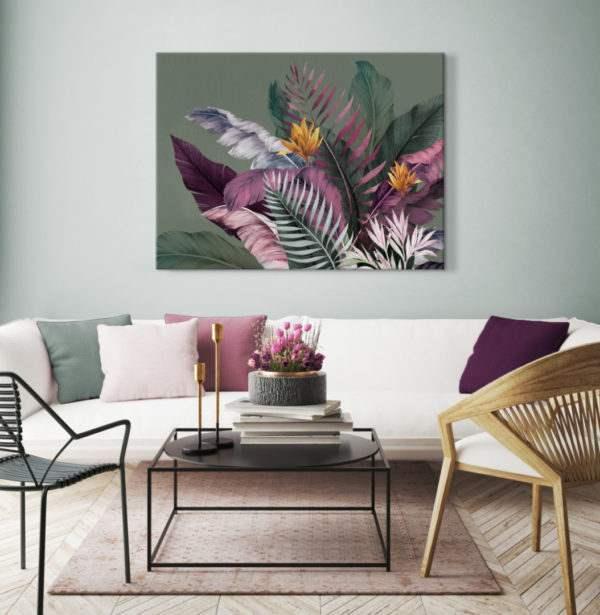 Leinwandbild Colorful Leaves im Wohnzimmer