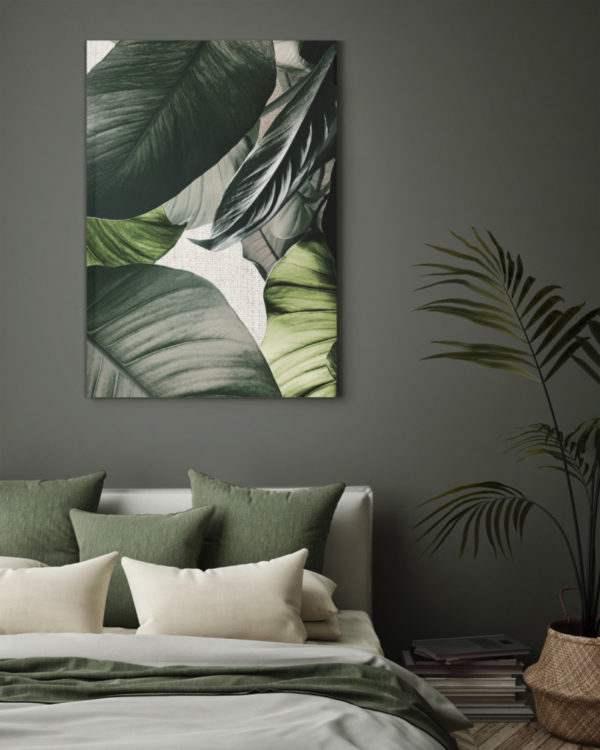 Leinwandbild Linen im Wohnzimmer