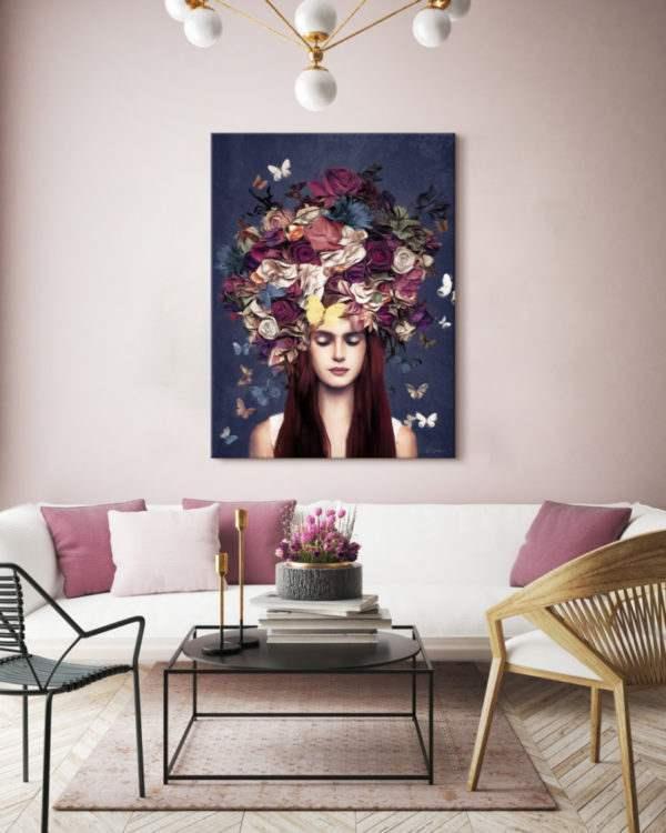 Leinwandbild Bouquet im Wohnzimmer